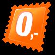 Náhrdelník s přívěskem kapky - oranžový