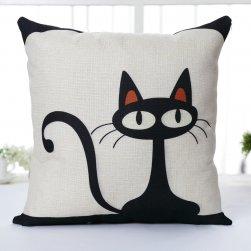 Povlak na polštář s kočičími motivy
