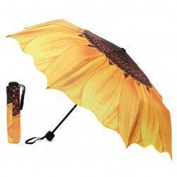 Deštník s motivem slunečnice