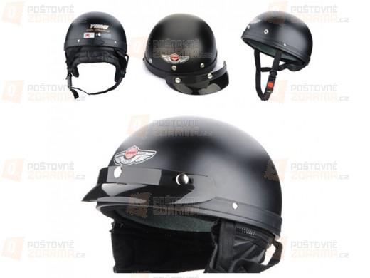 Helma na motorku černá XL