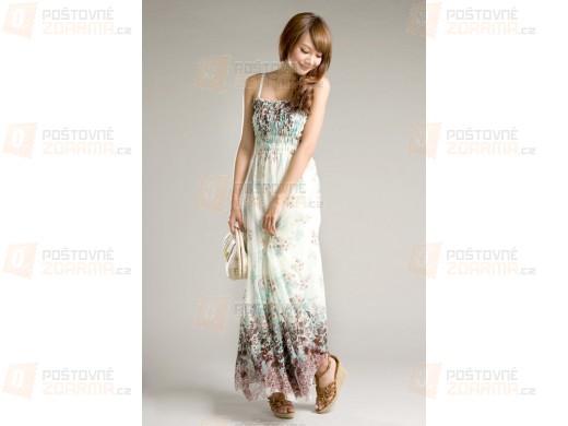 Dlouhé okouzlující šaty s květinovým vzorem