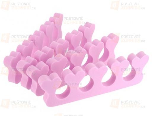 Oddělovač prstů se srdíčky - 4 kusy