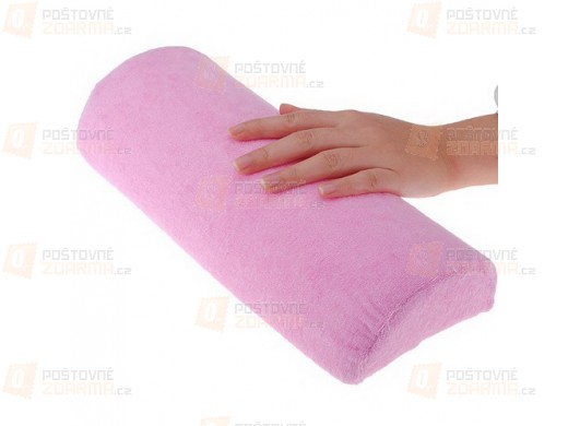Speciálně tvarovaný polštářek pro práci s nehty