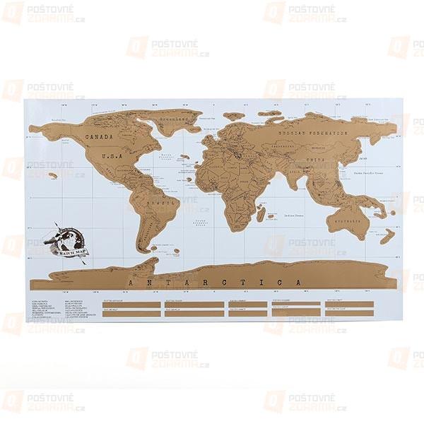 Mapa na zeď se seškrabávacím povrchem