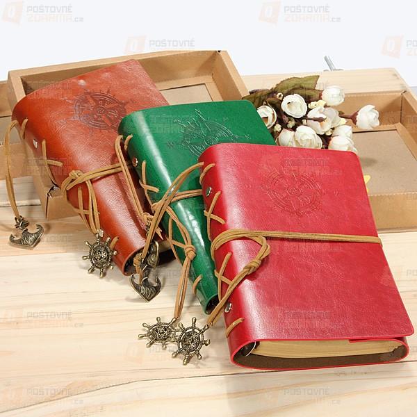 Cestovatelský deník v kožených deskách
