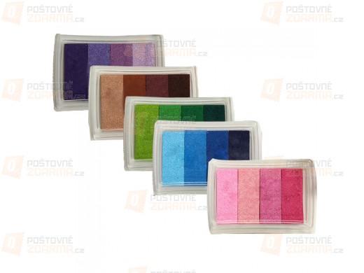Barevné inkoustové polštářky - 6 barev