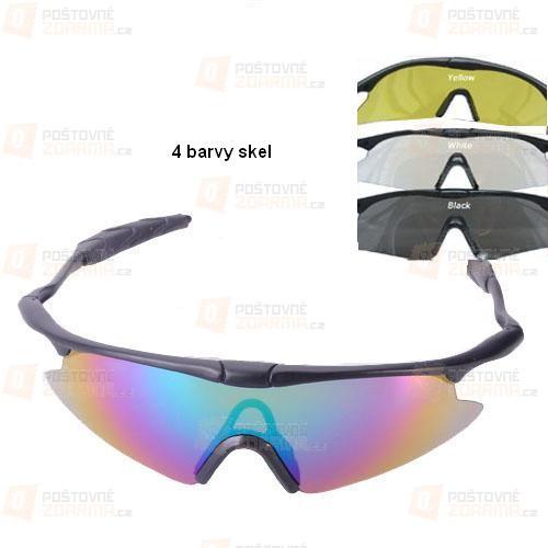 Sportovní brýle - na výběr ze 4 barevných skel