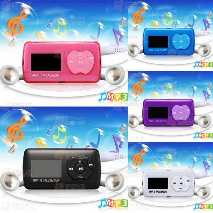 Mini Mp3 přehrávač na paměťovou kartu - 5 barev
