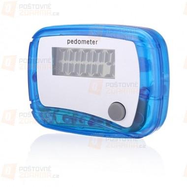 Digitální krokoměr (pedometr) - modrý