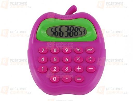 Barevná kalkulačka ve tvaru jablka