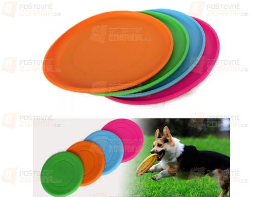 Barevný silikonový létající talíř pro psy
