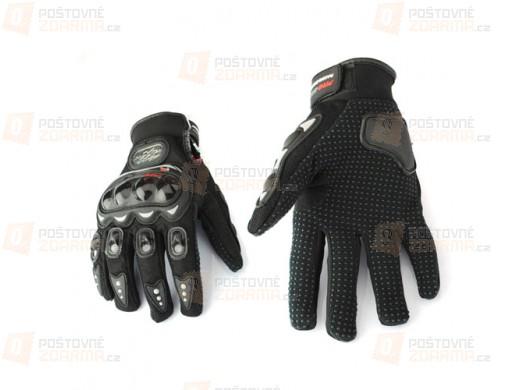 Motocyklistické rukavice černé L