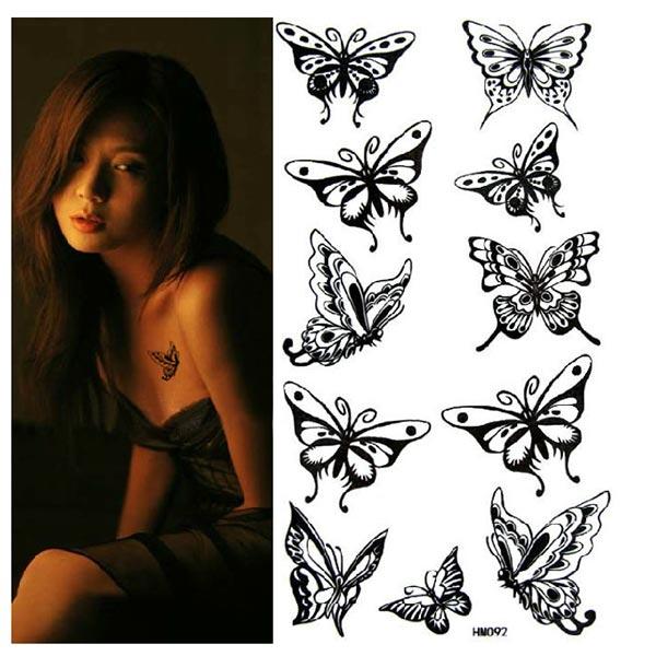 Tetování s motivem motýlka