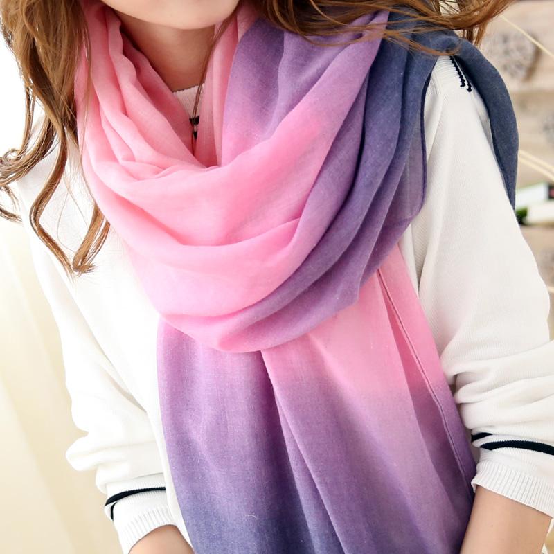 Šátek v duhových barvách - fialová