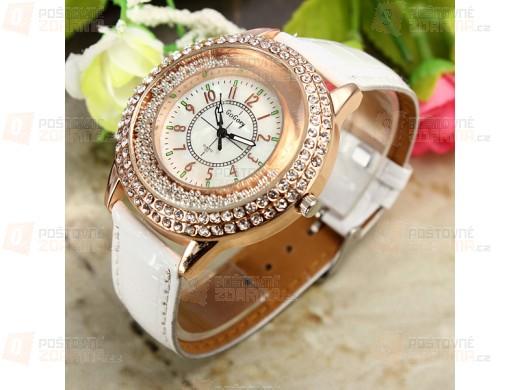 Dámské elegantní hodinky s třpytivými kamínky - 3 barvy