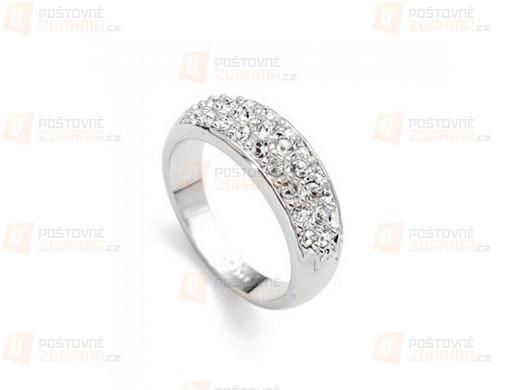 Elegantní prstýnek s kamínky