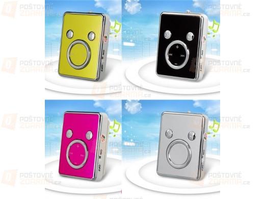 Mini MP3 přehrávač s klipem na microSD karty - 5 barev