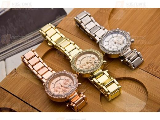 Geneva hodinky s kamínky ve třech barvách