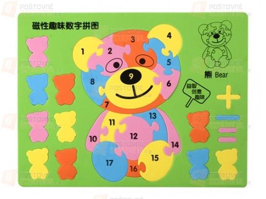 Vzdělávací hračka pro děti - Puzzle medvídek