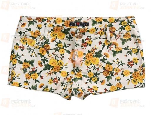 Dámské šortky s květinovým vzorem