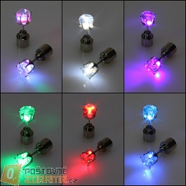 Blikající LED náušnice