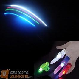 LED světlo na prsty