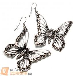 Náušnice s raženým motýlem