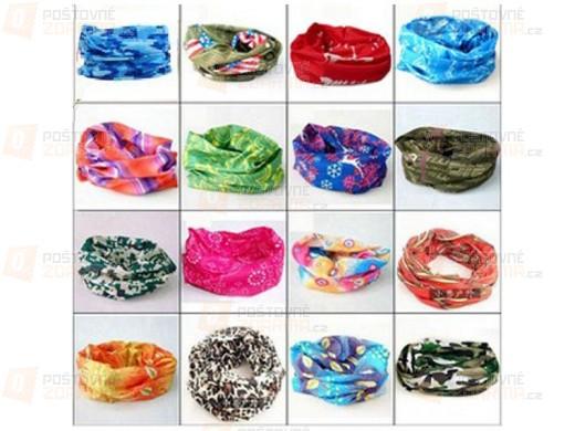 Multifunkční šátek v atraktivních vzorech pro muže i ženy