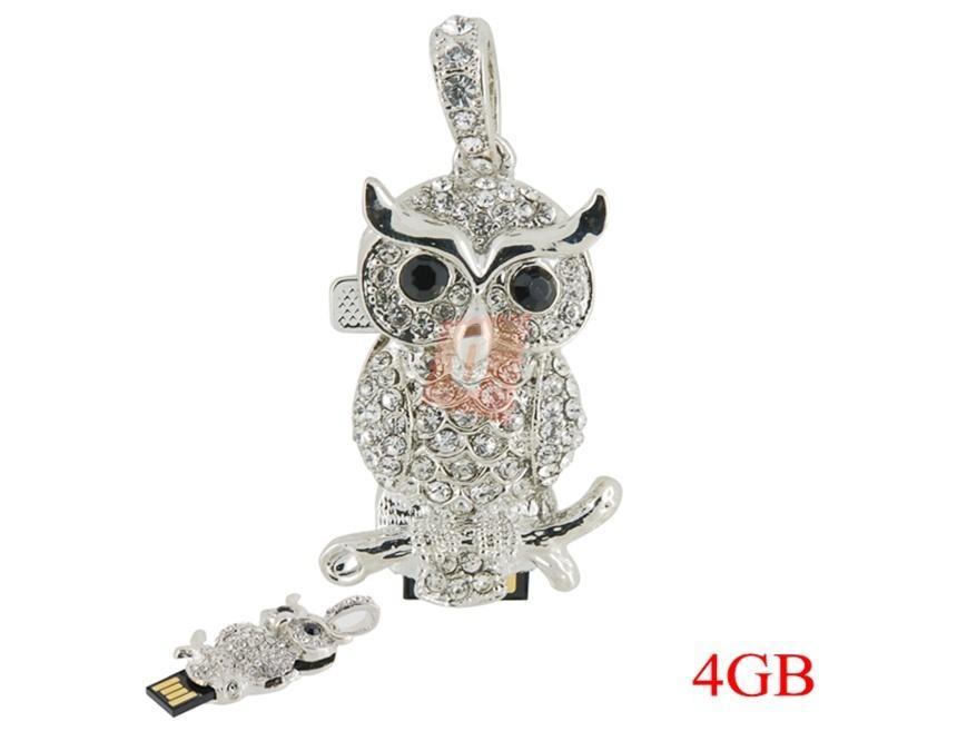 4GB Flashdisk - přívěsek sova