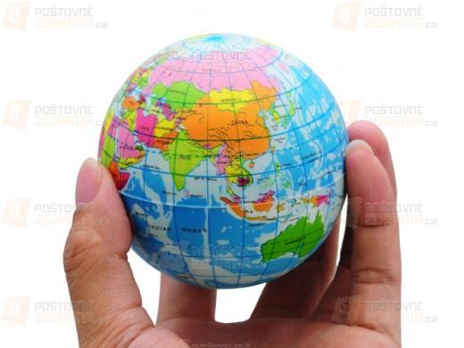 Antistresový míček - globus