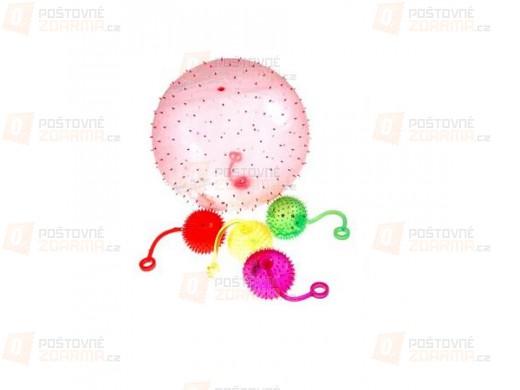 Gumové antistresové míčky - balení 4 kusů