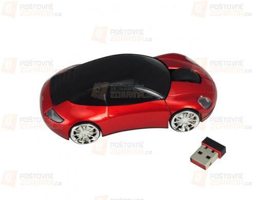 Bezdrátová optická myš ve tvaru Porsche