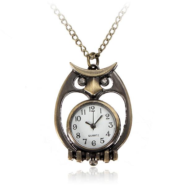 Originální náhrdelník s hodinkami