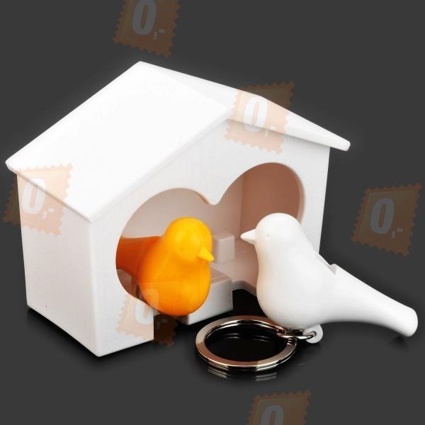 Držák na klíče - ptáčci v budce