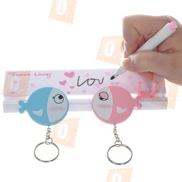 Zamilovaný držák na klíče - rybičky