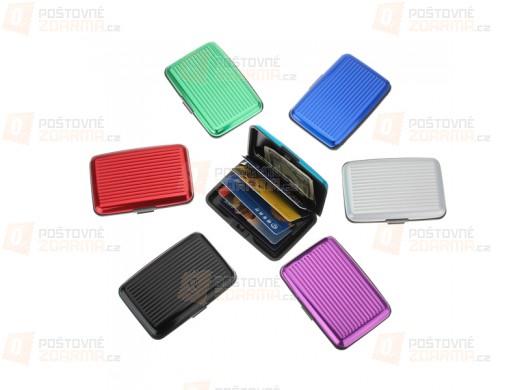 Vodotěsné hliníkové pouzdro na platební karty a vizitky v 7 barvách