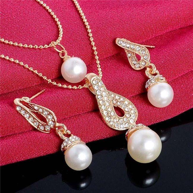 Sada šperků pro ženy - kapky vody 1