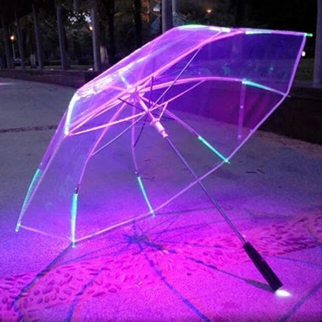 LED deštník měnící barvy 1