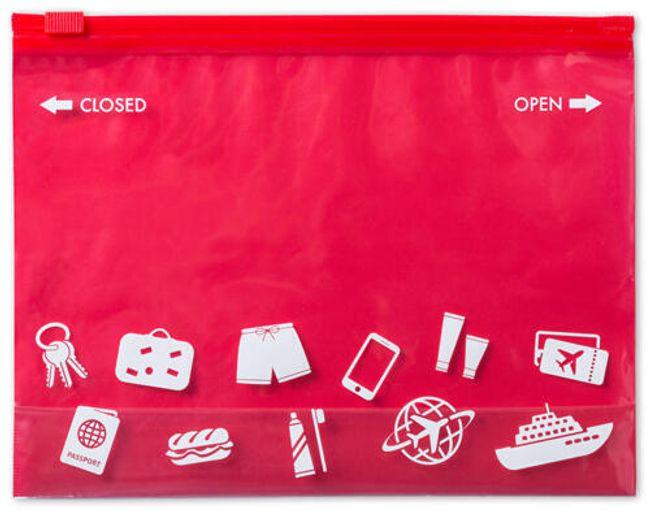 Víceúčelová taštička v červené barvě 1