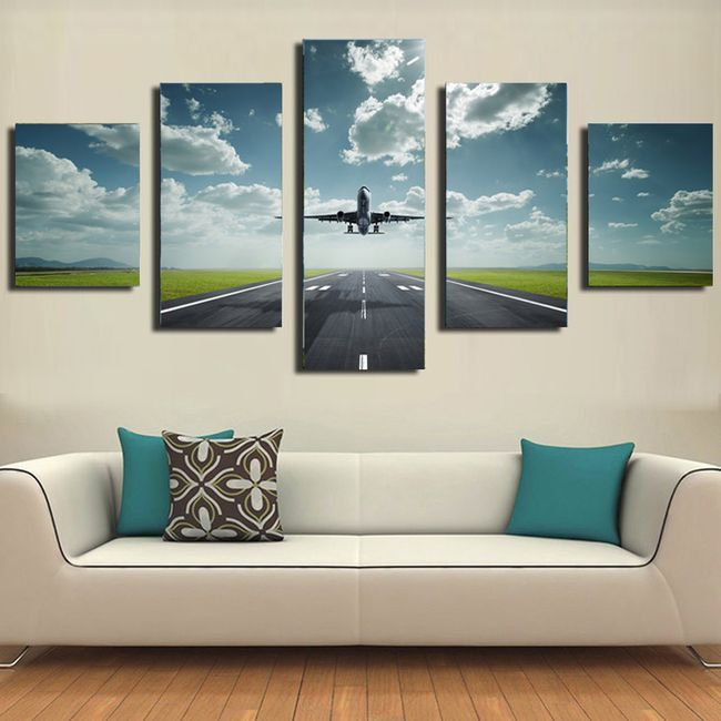 Nástěnný obraz s letadlem - 5 ks 1