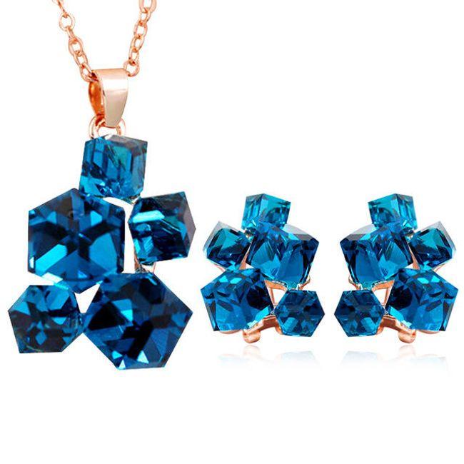 Sada šperků s krychličkami 1