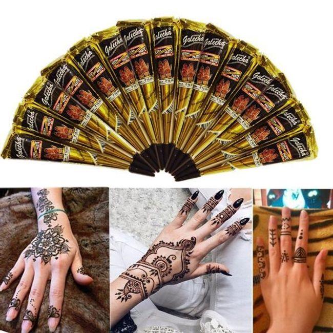 Přírodní henna pro dočasné tetování 1