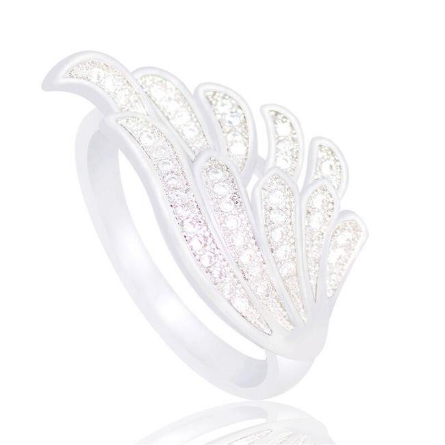 Dámský prstýnek - andělské křídlo 1