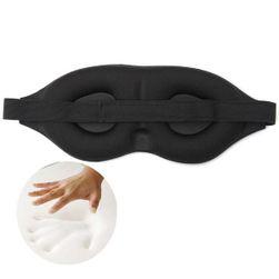 3D maska na spaní v černé barvě