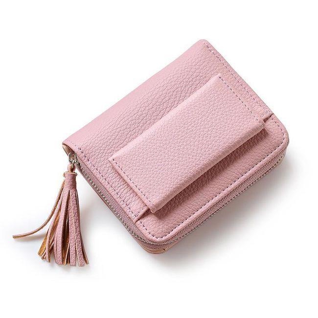 Krátká dámská peněženka se střapcem - 4 barvy 1