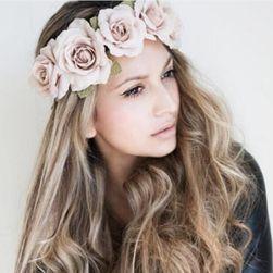 Čelenka do vlasů s velkými květinami