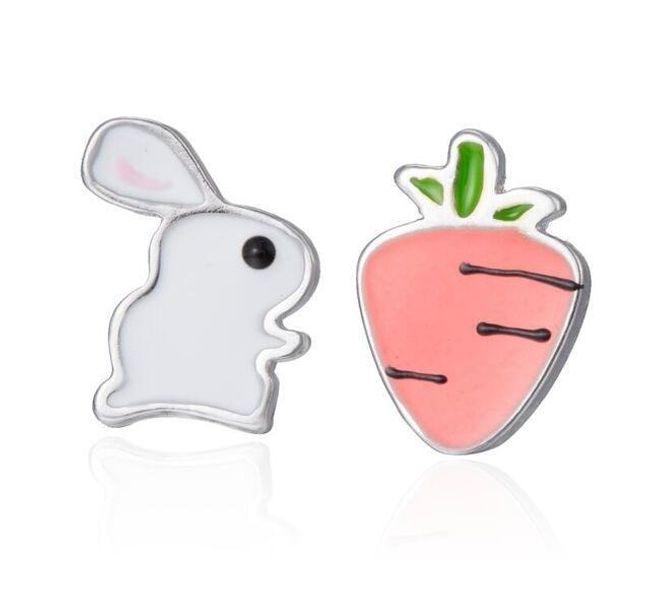 Náušnice králíček a mrkev  1