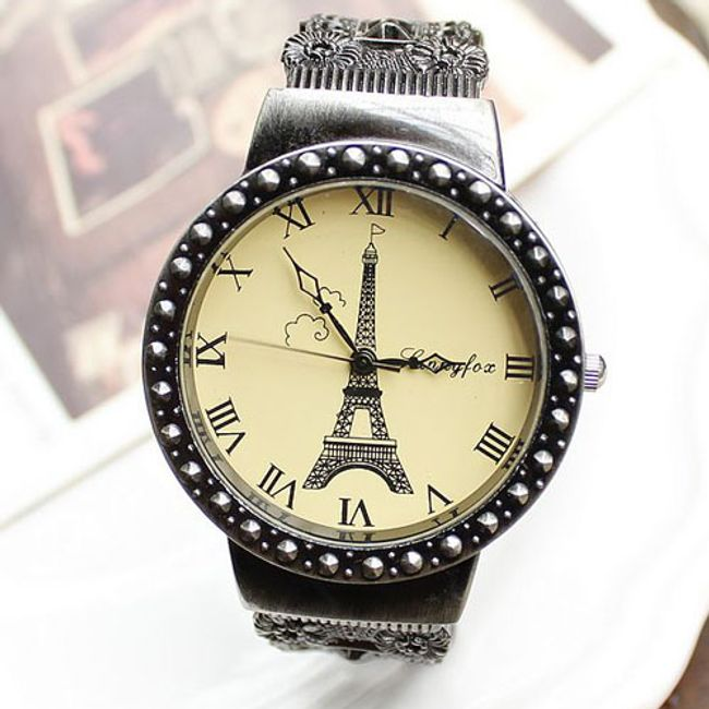 Vintage hodinky s Eiffelovkou 1
