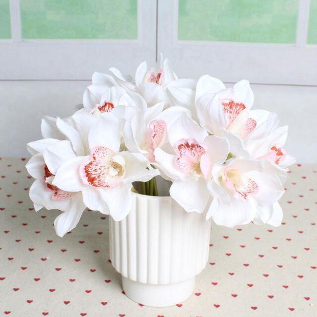 Umělé orchideje - 6 kusů 1