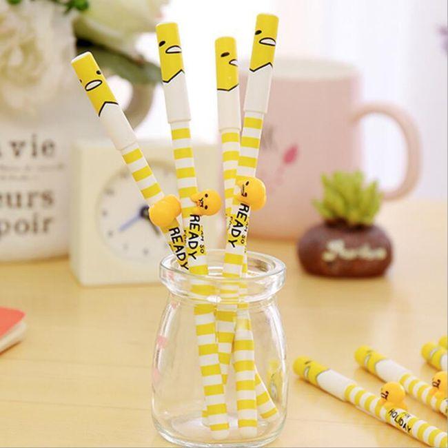 3D propiska ve žluté brvě - 4 kusy 1